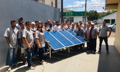 curso energia solar, instalação de energia solar, curso presencial pratico completo fotovoltaica placa inversor micro